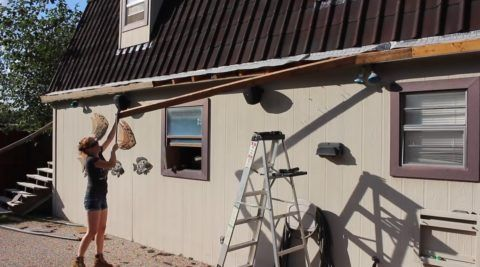 Веранды постройка: снятие ветровой доски