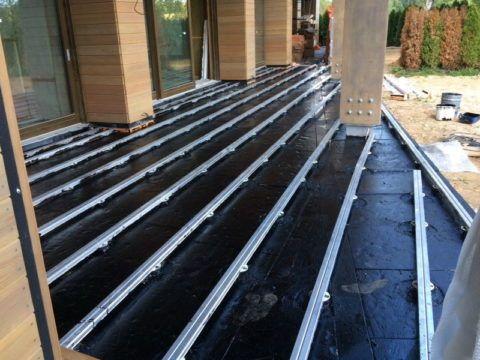 Алюминиевые лаги для террасной доски