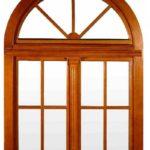 Арочное деревянное окно