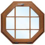 Окно в форме восьмиугольника