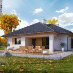 Даже открытое патио наделяет одноэтажный дом большей функциональностью
