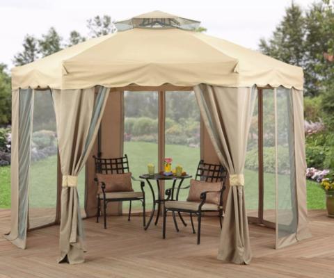 Элегантный шатер на террасе