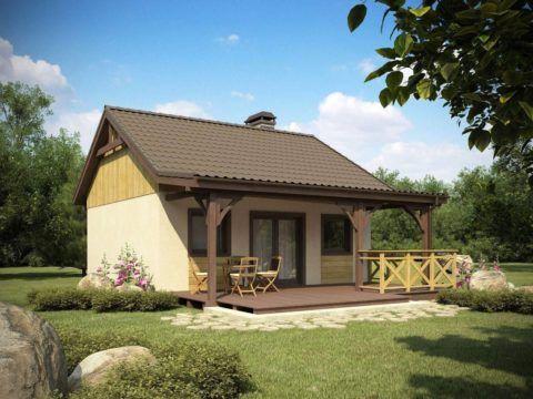 Небольшой домик и уютная веранда