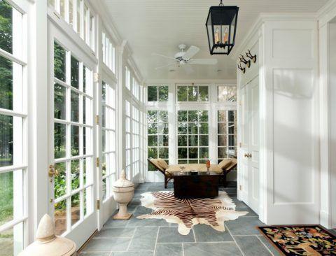 Окна на террасу на дачус раскладкой