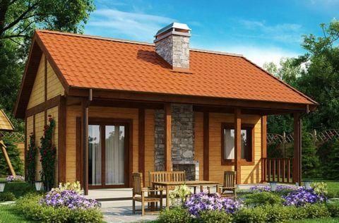 Проекты одноэтажных домов с верандой – дачный домик