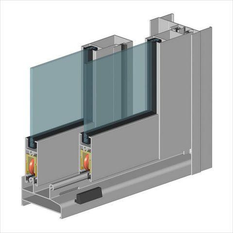 Раздвижной принцип открывания алюминиевой оконной системы