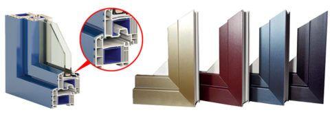 Разнообразие оттенков алюминиевого профиля позволяет подобрать необходимое оформление фасада