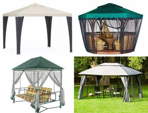Садовые шатры беседки