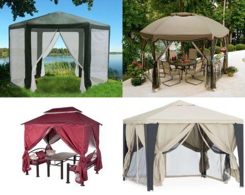 Садовые шатры и беседки
