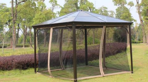 Шатер с прозрачной противомоскитной сеткой защитит от насекомых