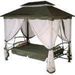 Шатер с раскладным диваном для комфортного сна на свежем воздухе