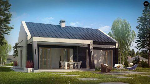 Современный дом с крытой верандой