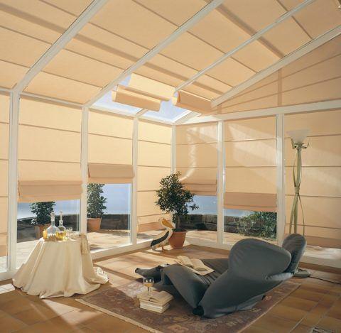 Защита от яркого солнца при помощи штор