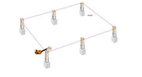 Горизонтальность шнура контролируют при помощи строительного уровня