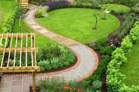Садовая дорожка к беседке – сочетание материалов