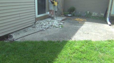 Демонтаж бетонной площадки