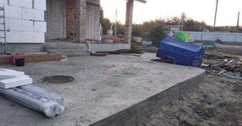 Опалубка с бетона снята