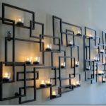 Декор стены из сварных металлических рам
