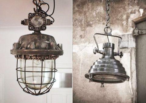 Подвесные светильники в виде индустриальных ламп