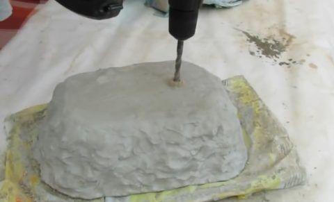 Сверление сливных отверстий