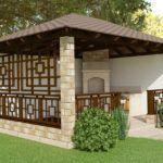 Проект беседки на даче: постройка летняя, но с защитой от ветра